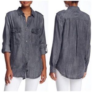 Rails Alexandra Chambray Snap Button Down Shirt L